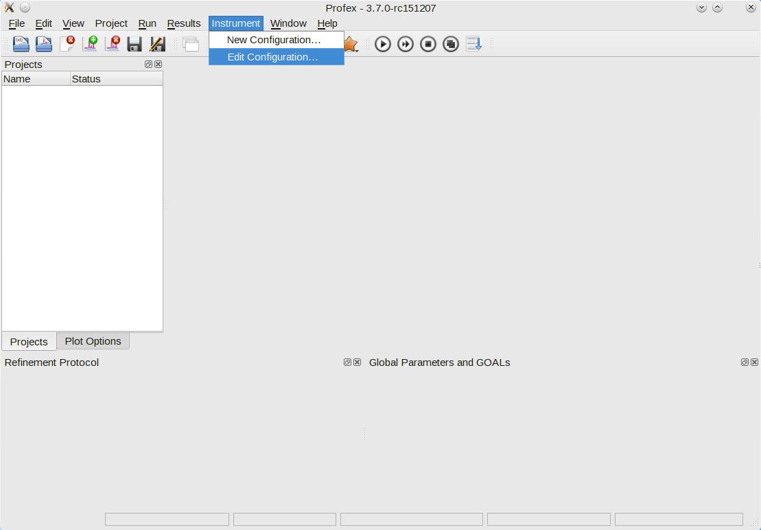 Creating Instrument Configuration Files | Profex