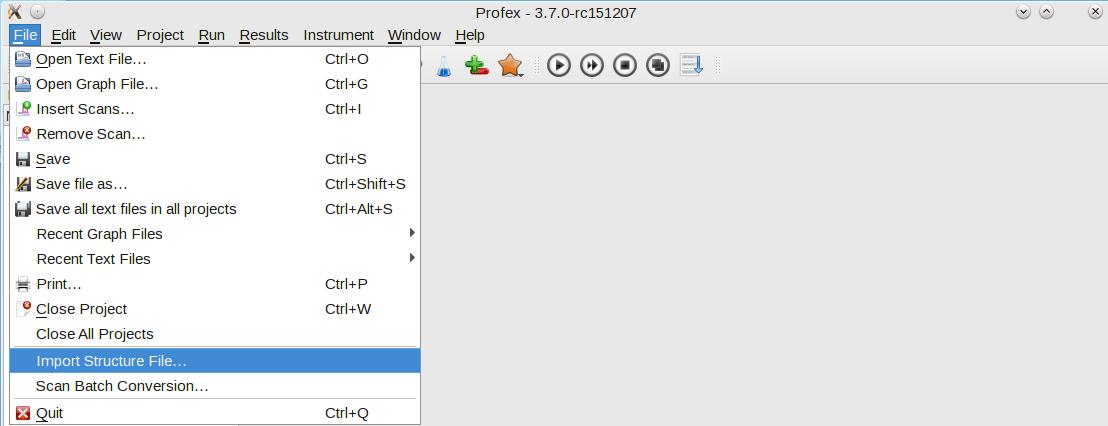 Converting CIF to STR files | Profex