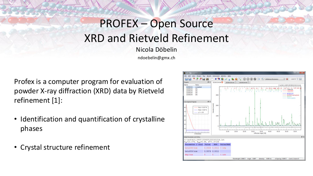Profex | Open Source XRD and Rietveld Refinement